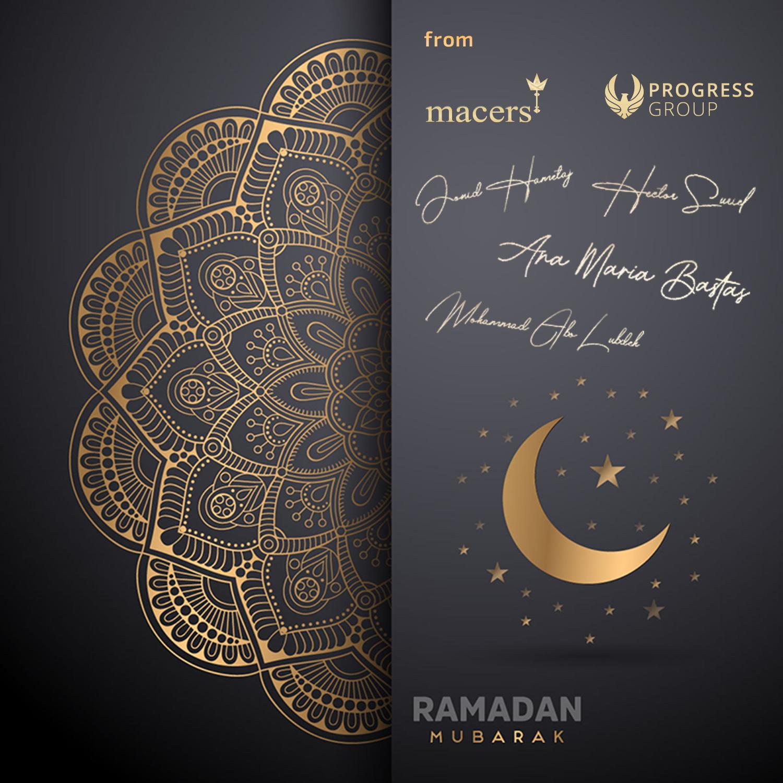 Card wishing everyone Ramadan Mubarak